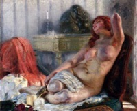 a young beauty reclining by joseph-marius avy