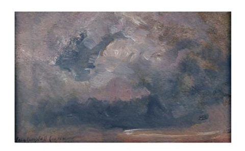 cloud study with grey and mauve clouds by colin campbell cooper