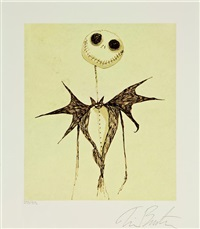 the nightmare before christmas giclee suite (set of 6) by tim burton