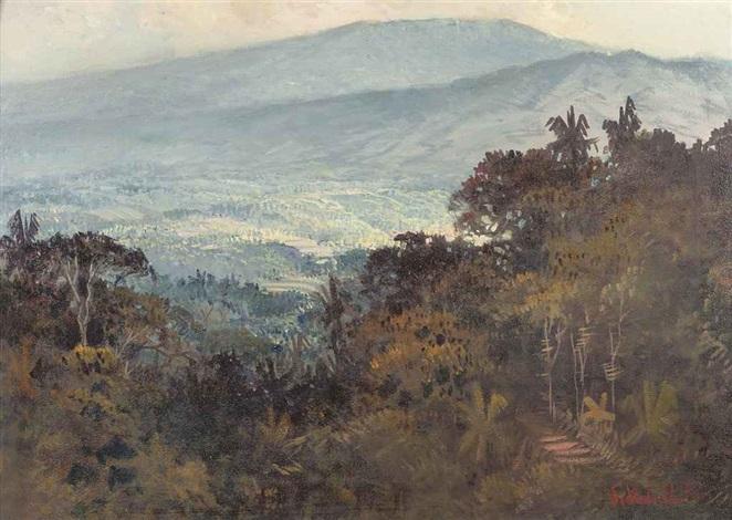 indonesian landscape by sudjono abdullah