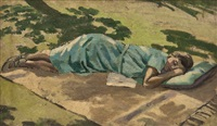 rest on the lawn by maurice field
