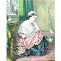 a portrait of miss slade dressed as cinderella by isabel oakley naftel