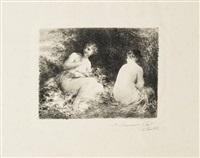 baigneuses (2e moyenne pl.) by henri fantin-latour