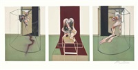 l'orestie d'eschyle (set of 3) by francis bacon
