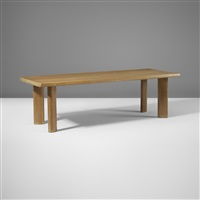 long dining table by charlotte perriand
