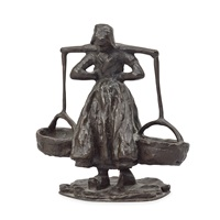 woman carrying water by carl (wilhelm emile) milles