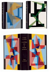 l'antitête (3 vols. by tristan tzara: vol.i w/8 works by max ernst; vol.ii w/7 works by yves tanguy, vol.iii w/8 works by joan miro) by tristan tzara