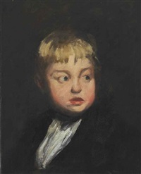 head of a boy by george wesley bellows