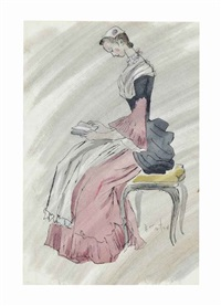 costume design for 'the gainsborough girls by cecil beaton
