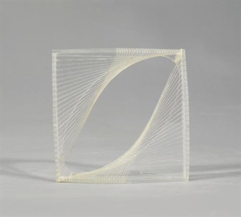 linear construction in space no.1 by naum gabo