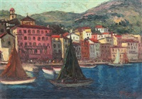 landscape in positano by henri visconte