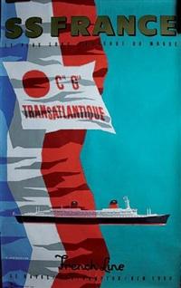 cie générale transatlantique ss france by jean jacquelin