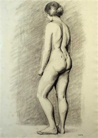 female nude study by renee honta