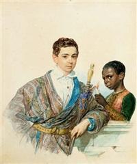 portrait of anatole demidoff, prince de san-donato by karl pavlovich bryullov