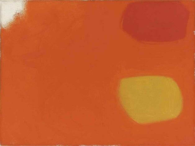 vermillion and lemon in orange: jan 62 by patrick heron