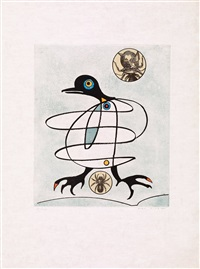 oiseaux en peril (suite of 8) by max ernst