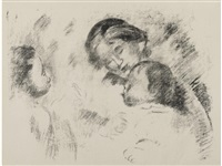 une mère et deux enfants (d.; s. 54) by pierre-auguste renoir