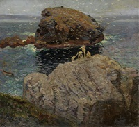 divers and gulls by ernest lawson