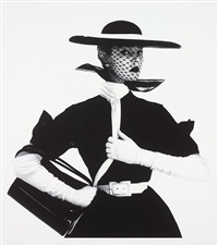 black and white fashion (with handbag) (jean patchett), new york by irving penn