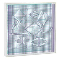 overall 11 7/8 x 11 7/8 x 2 inches; 302 x 302 x 51 mm by victor vasarely