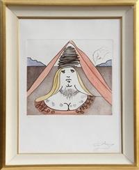 the lady dulcinea from historia de don quichotte de la mancha by salvador dalí