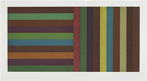 horizontal color bands and vertical color bands plate 5 by sol lewitt