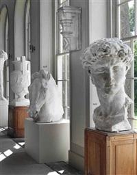 model of a horses head from the equestrian statue of erasmo da narni, known as gattamelata by donatello
