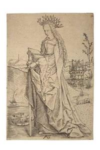 st. catherine by matthaus zasinger