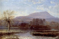 sunrise, at the inlet of river brathay: windermere lake by charles pettitt