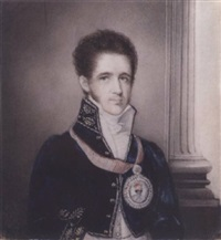 a portrait of mordant ricketts by robert home