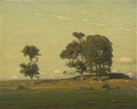 trees in a field by gustave adolph wiegand