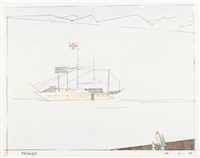 red cross ship by lyonel feininger