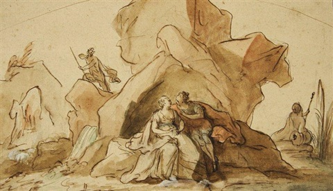 scène mythologique acis and galathée by noël nicolas coypel