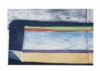 indigo horizontal by richard diebenkorn