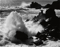 storm surf, timber cove, california by ansel adams
