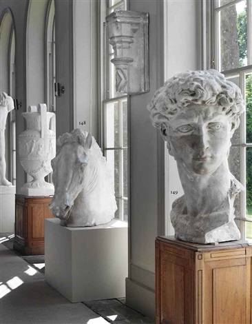 model of the head of david by michelangelo