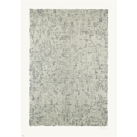 gray alphabets by jasper johns