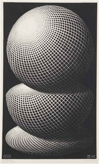 three spheres i by m. c. escher