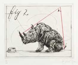 three rhinos fig 2 dunce by william kentridge