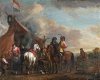 la halte au campement by philips wouwerman