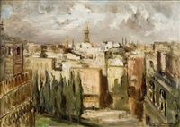 panorama du caire : mosquée d'ibn touloun by georges hanna sabbagh