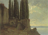 cypressen. italienischer park am see by curt agthe