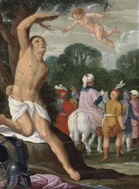 the martyrdom of saint sebastian by johann (hans) konig