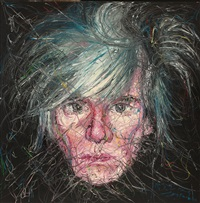 安迪·沃荷肖像 (portrait of andy warhol) by zeng fanzhi