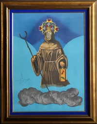 mystery of sleep (the hermit) by salvador dalí