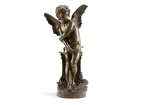 a bronze figure of cupid by hippolyte françois moreau