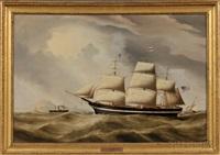portrait of the american ship ocean eagle by duncan mcfarlane