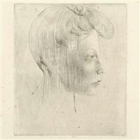 tête de femme, de profil by pablo picasso