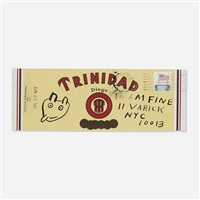 untitled (trinidad cigar box) by ray johnson