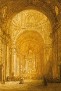 church interior by jacobus cornelis wyand cossaar